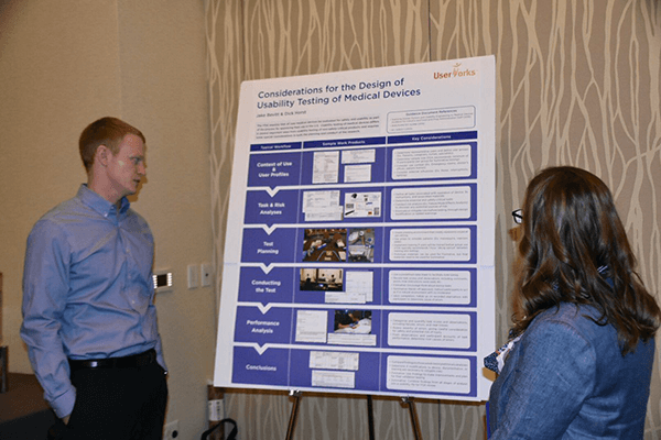 Jake presenting a poster at UXDC 2017
