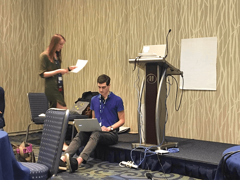 Dana and Tristan leading a workshop at UXDC 2017