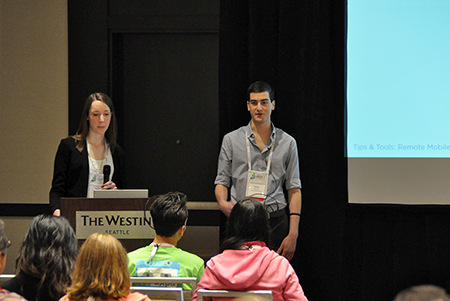 Tristan and Dana giving a talk at UXPA Seattle 2016